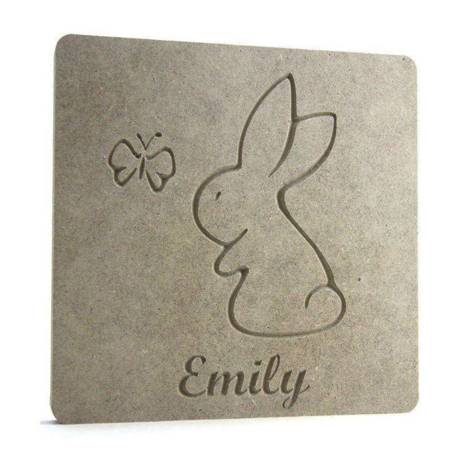 Bunny & Butterfly Name Plaque
