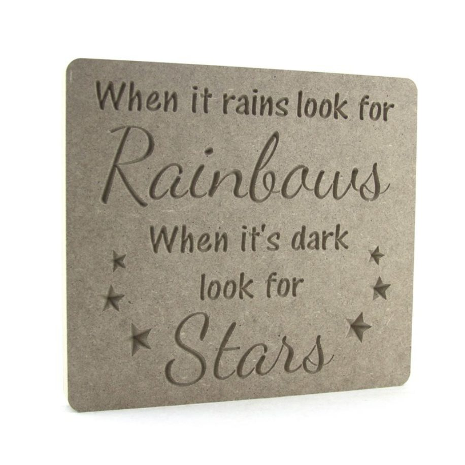 When it rains look for rainbows....