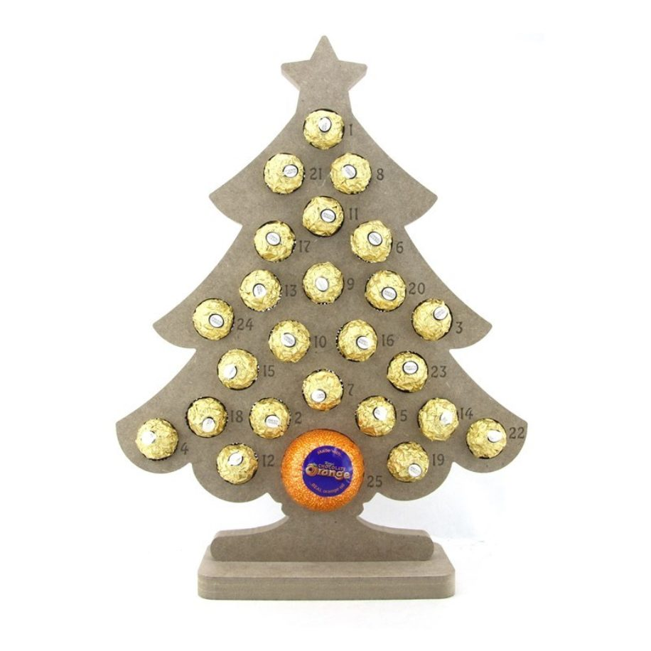 Ferrero Roche & Chocolate Orange Tree Shaped Advent Calendar