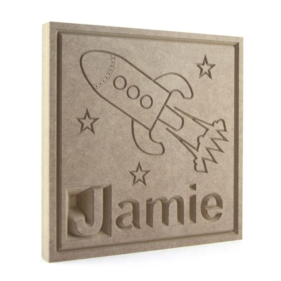 Rocket Name Plaque