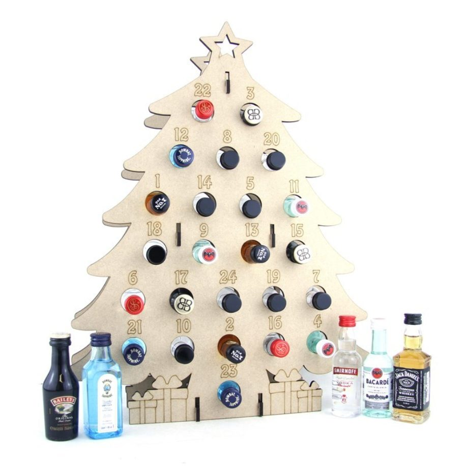 Tree Shaped Miniature Bottle Advent Calendar - 5cl bottles.