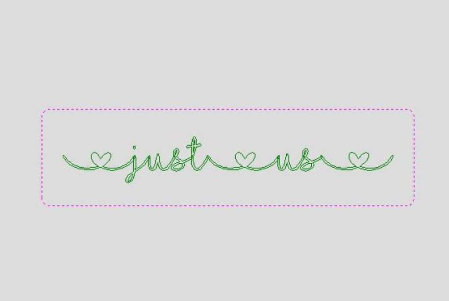 |just|us| linked heart word block