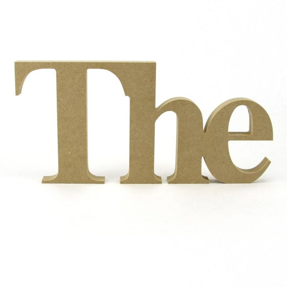 'The' in Times New Roman Font