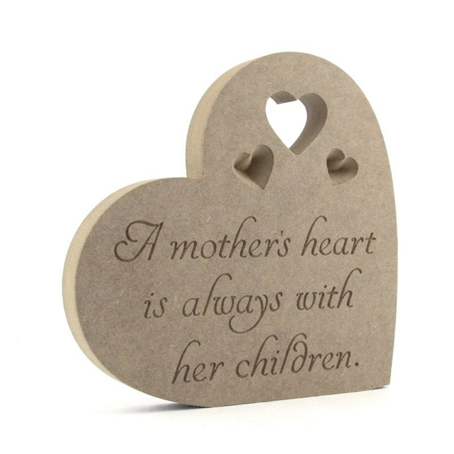 Heart Plaque 'A Mothers Heart'