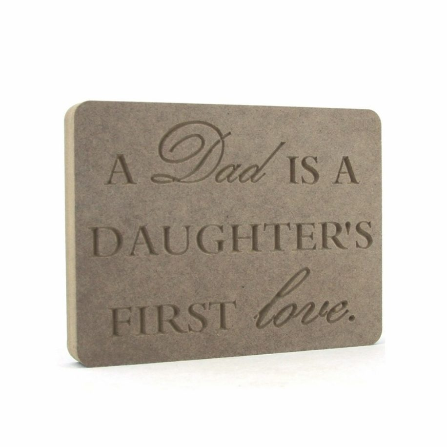 Dad 'Daughter' Plaque