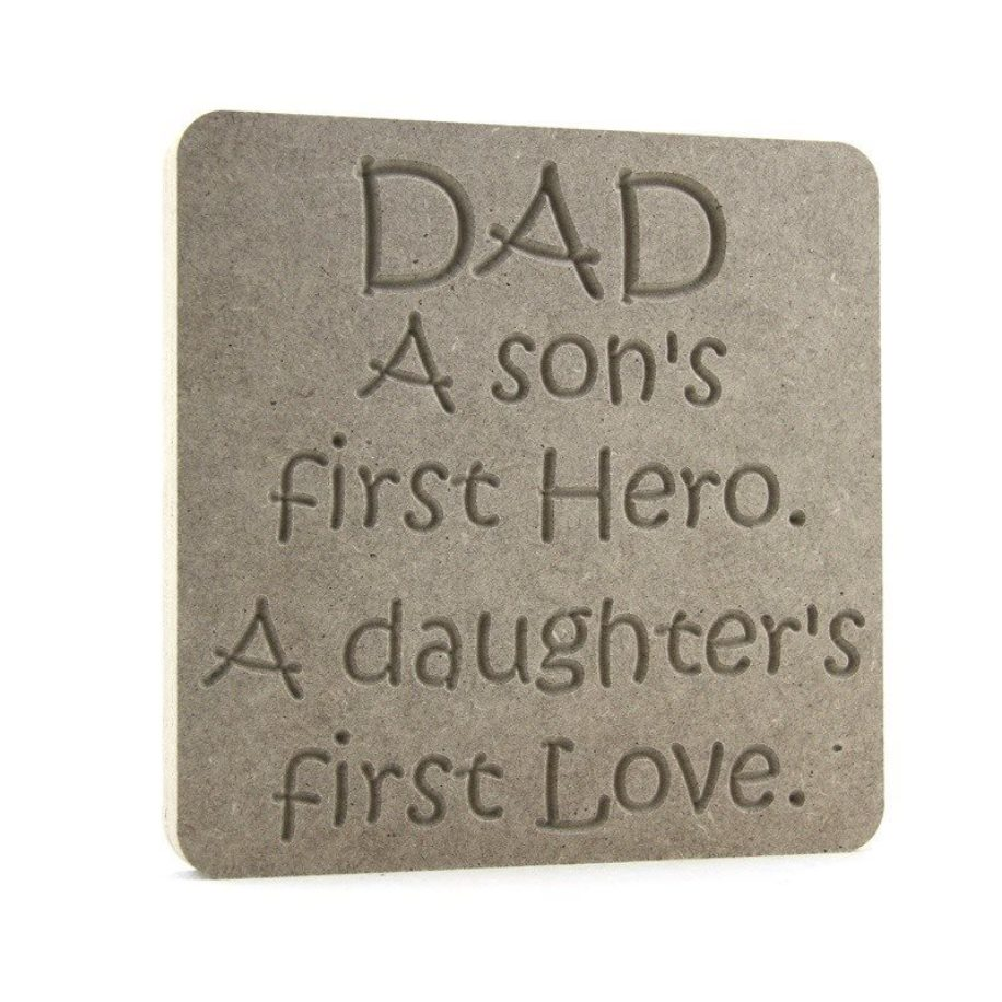 Dad, Son Daughter Plaque