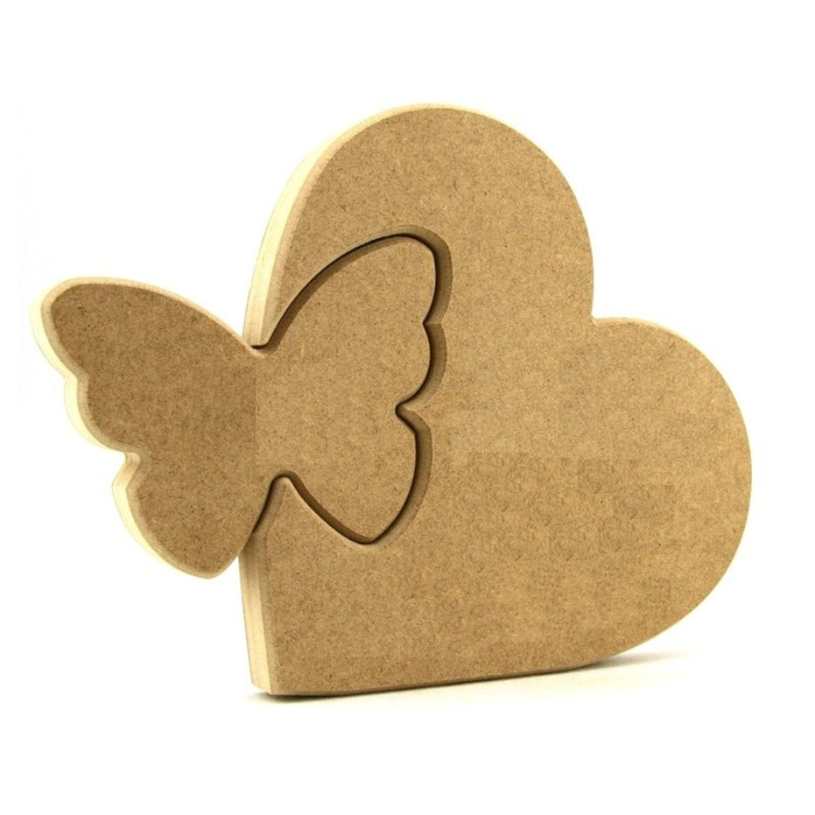 Heart with Interlocking Butterfly