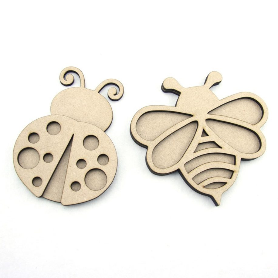 3d Bee or Ladybug (small) laser cut