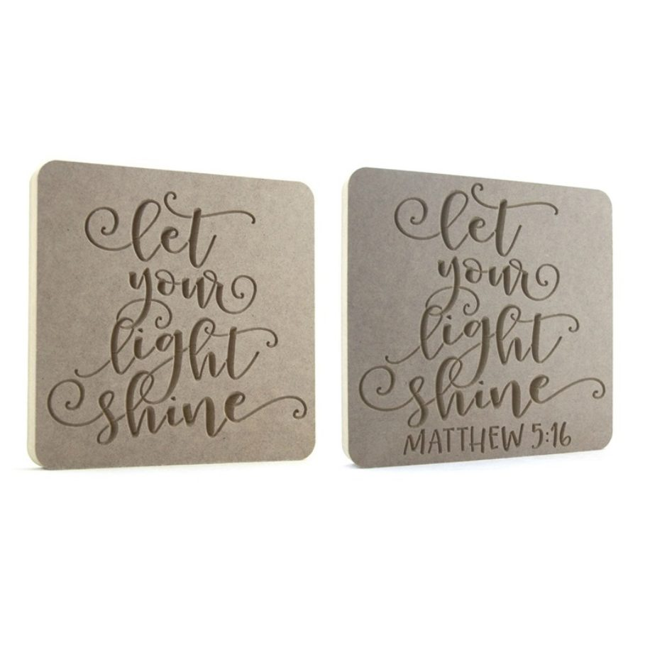 Let your light shine. Two versions available.