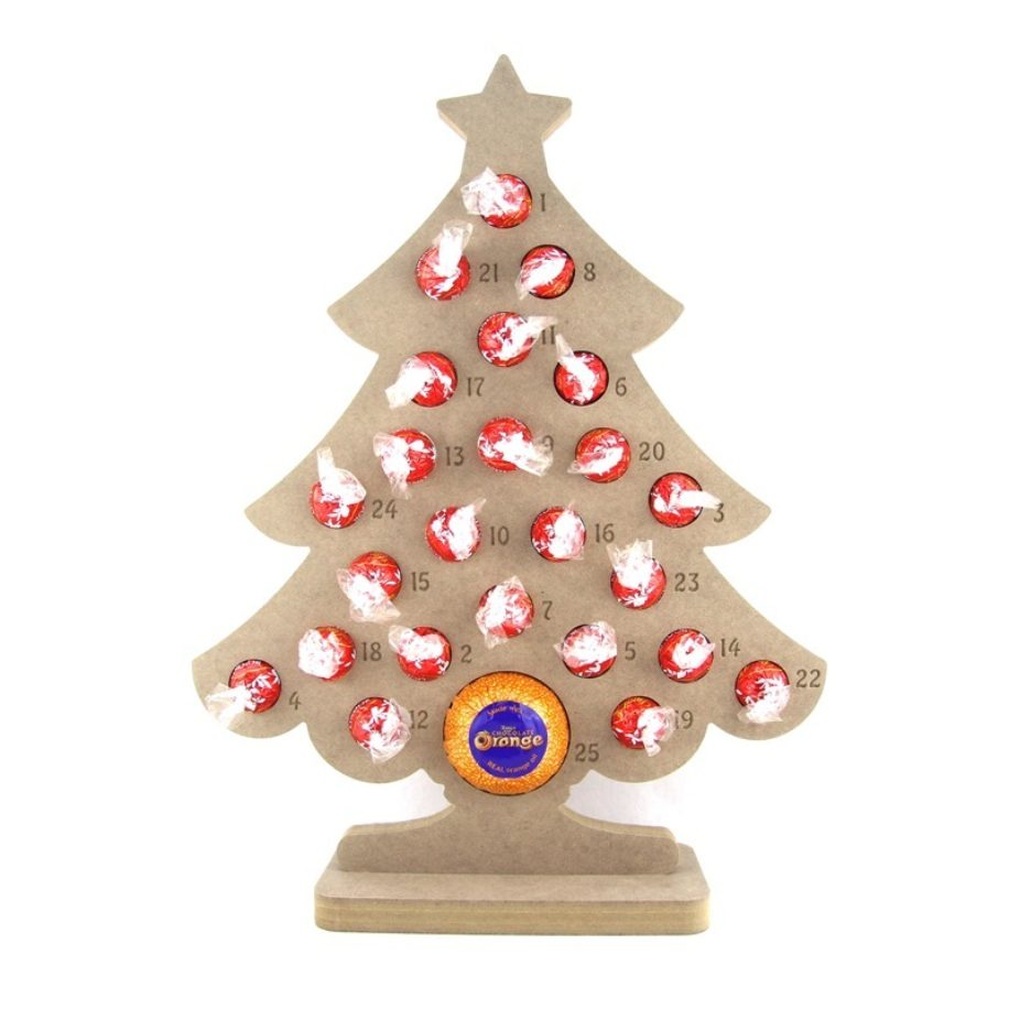 Lindt Lindor Chocolate & Chocolate Orange Tree Shaped Advent Calendar