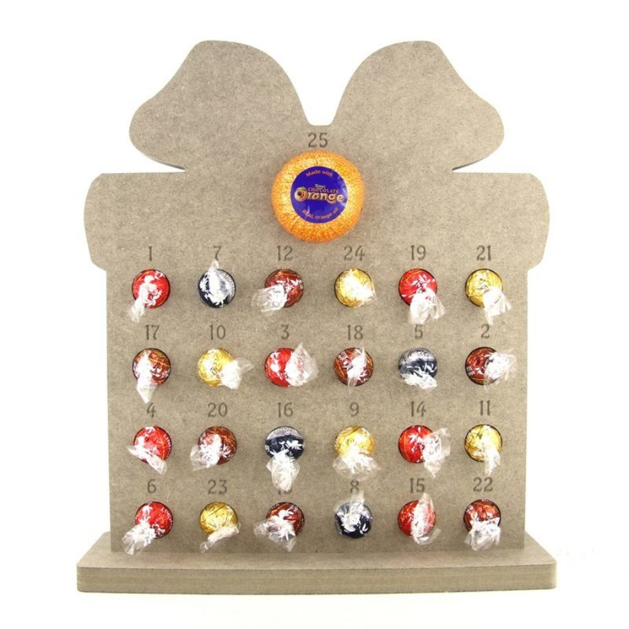Lindt Lindor Chocolate & Chocolate Orange Gift Shaped Advent Calendar