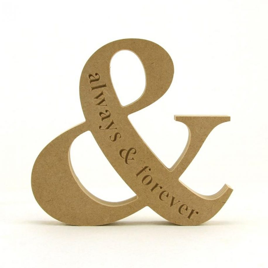 Ampersand 'always & forever'