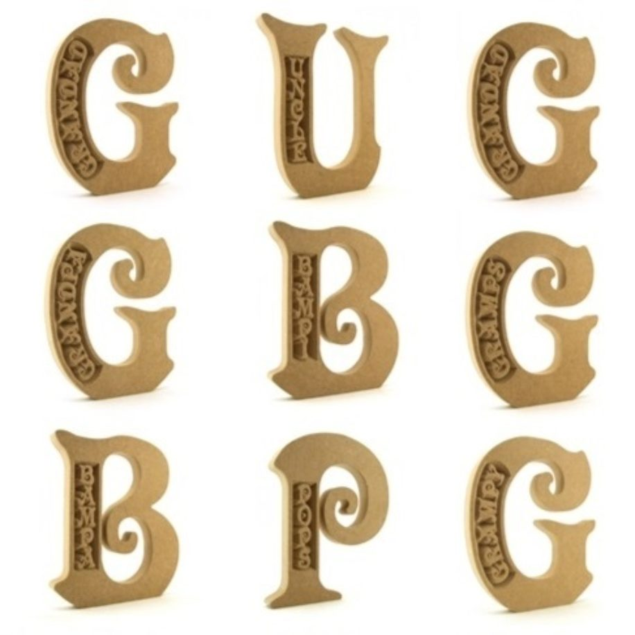 Special Engraved Letters - Men