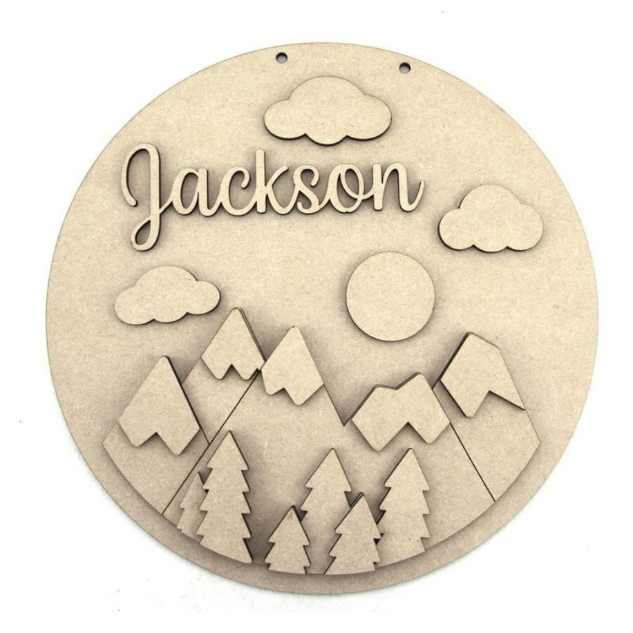 Mountains Personalised Plaque