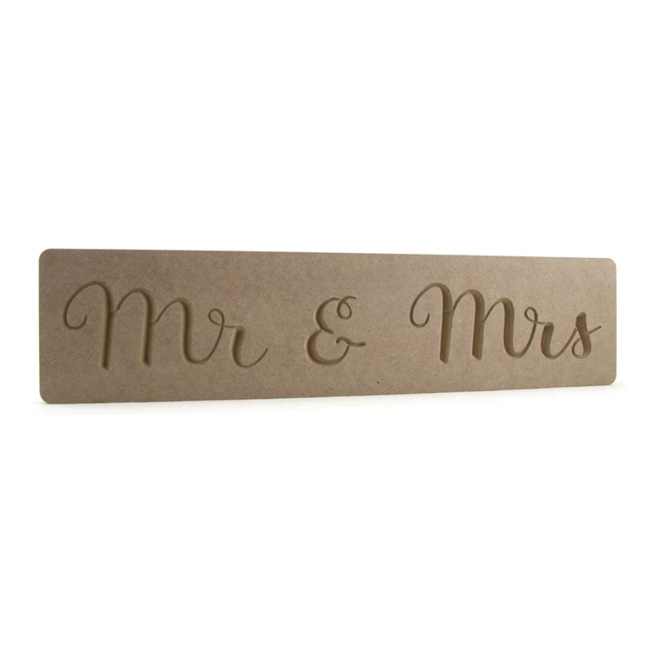 Mr & Mrs Engraved Plaque
