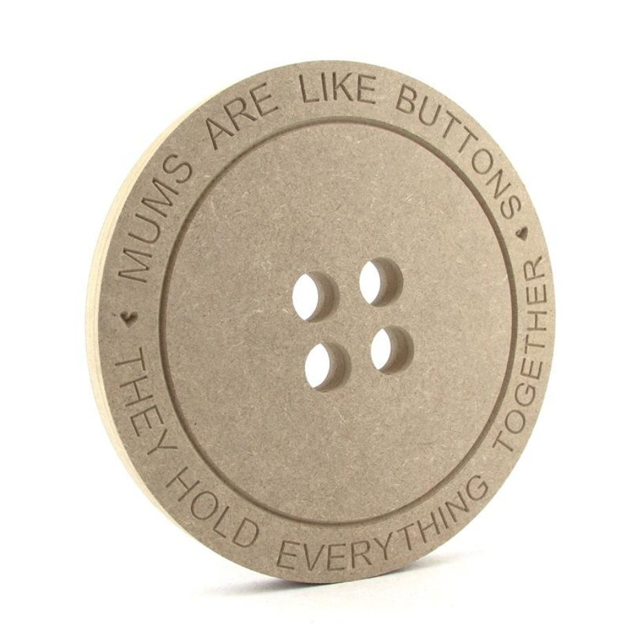 Button engraved ' ...... are like buttons.....'