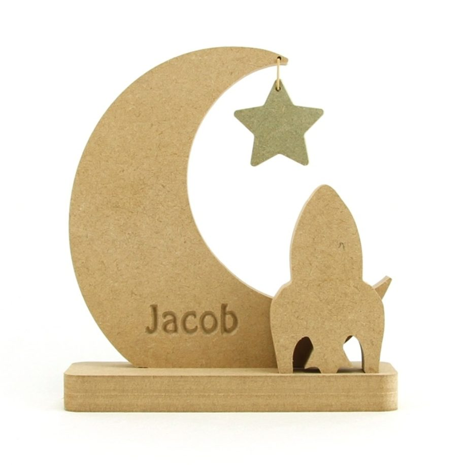 Rocket, Moon & Star Personalised.