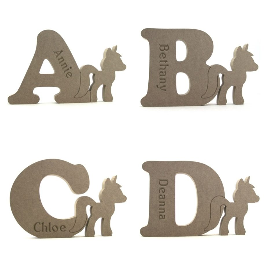 Standing Unicorn Letters