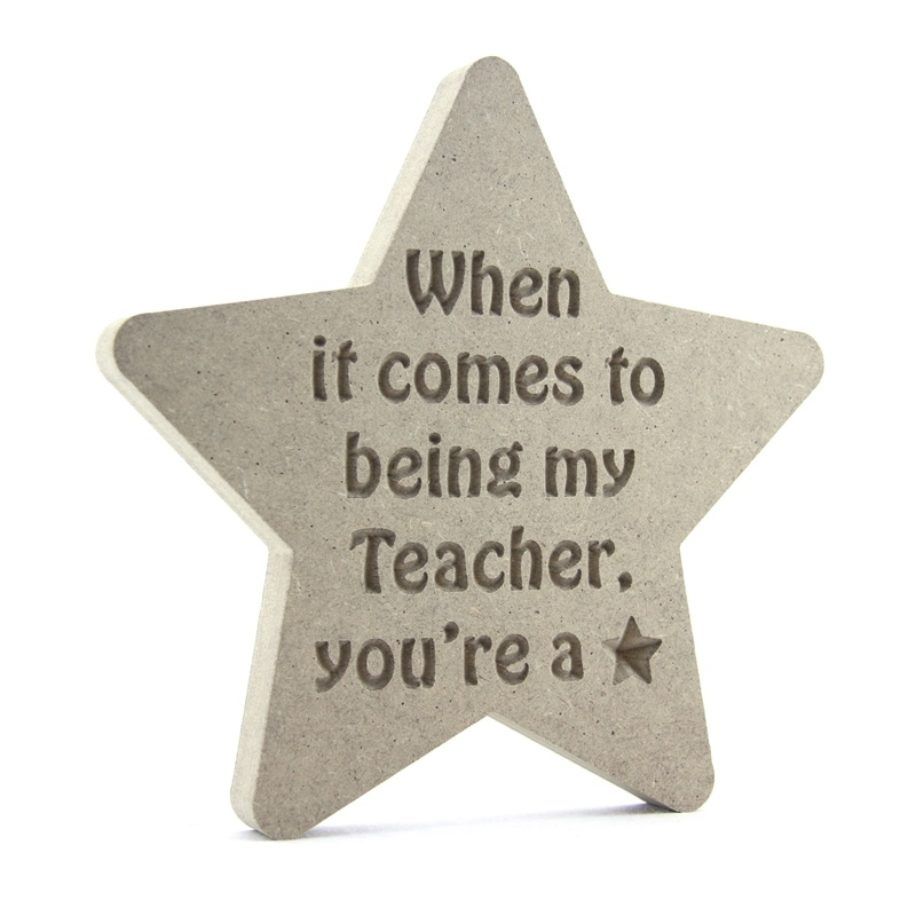 Teacher Gift Engraved Star