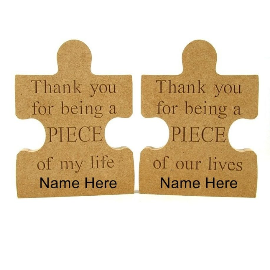 Thank You Puzzle Piece with added name option.