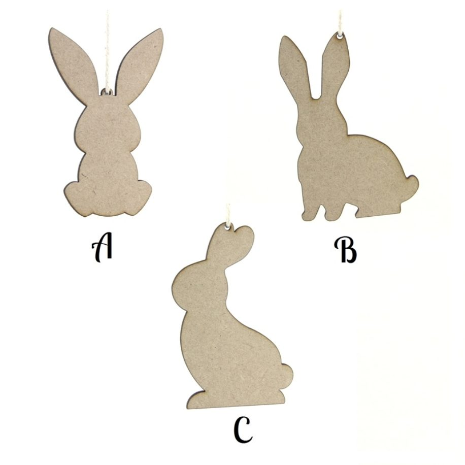 Bunny Rabbit Hanging Shapes