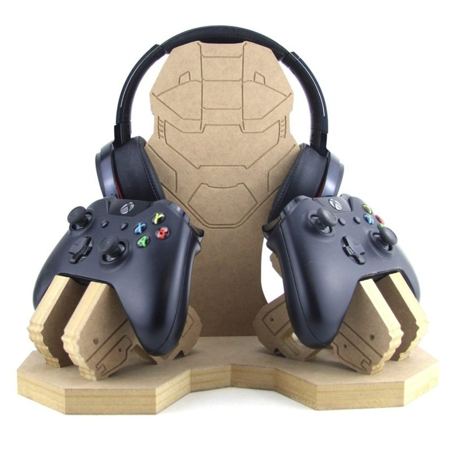 Combat Helmet Guns Controller And Headset Holder Makers Shed Custom Mdf Craft Shapes And Supplies