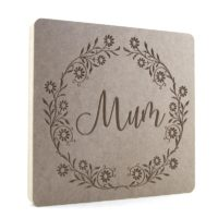 Pretty Flower Wreath Name Plaque