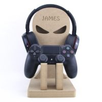 Single Game Controller & Headset Stand Personalised