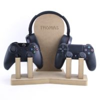Double Game Controller & Headset Stand Personalised