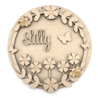 Flower Meadow Personalised Plaque