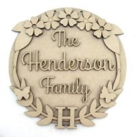 Family Name & Initial Plaque
