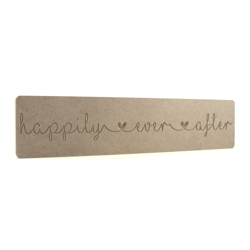 'happily ever after' linked heart word block