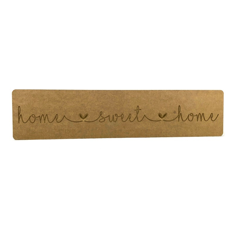 'home sweet home' Engraved Word Block