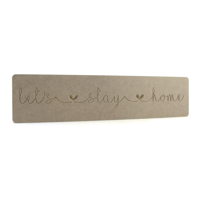 'let's stay home' linked heart word block
